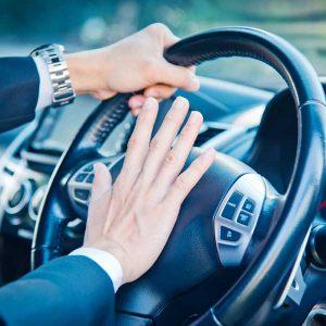 horn honking driver
